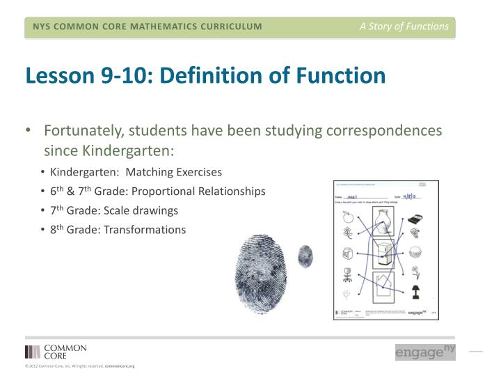 Lesson 9-10: Definition of Function