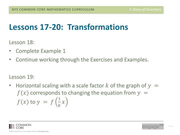 Lessons 17-20: