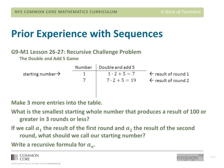 Prior Experience with Sequences