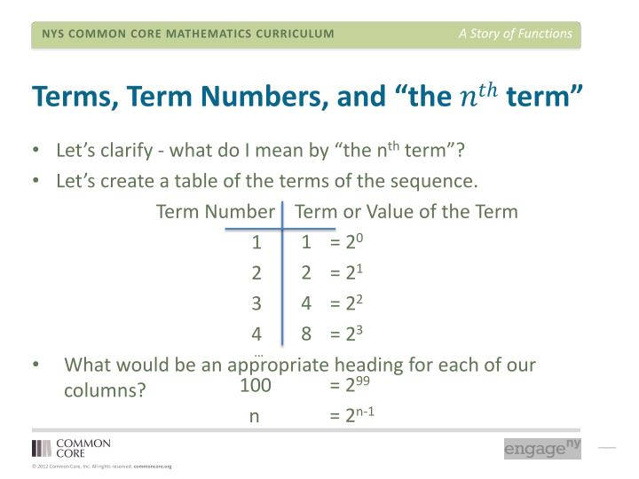 "Terms, Term Numbers, and ""the"
