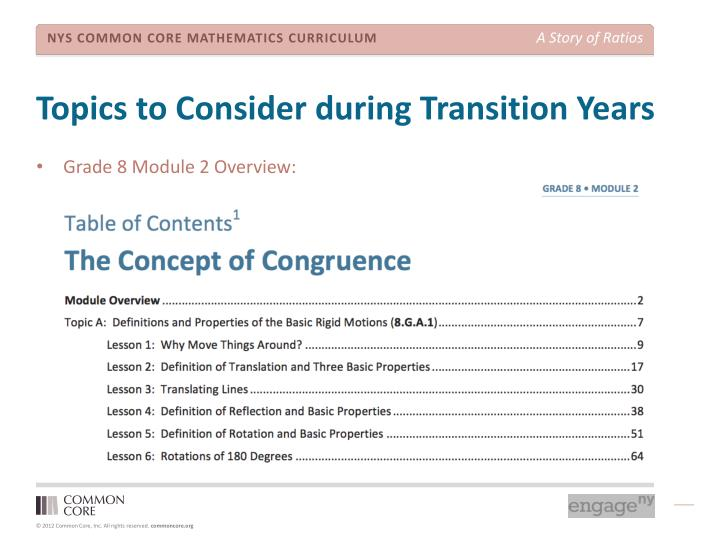 Topics to Consider during Transition Years