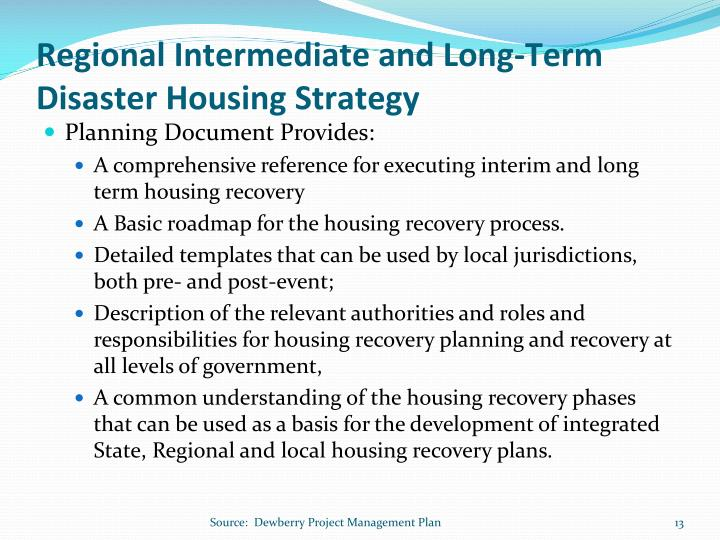 Regional Intermediate and Long-Term