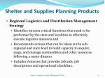 shelter and supplies planning products2