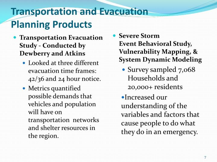Transportation and Evacuation
