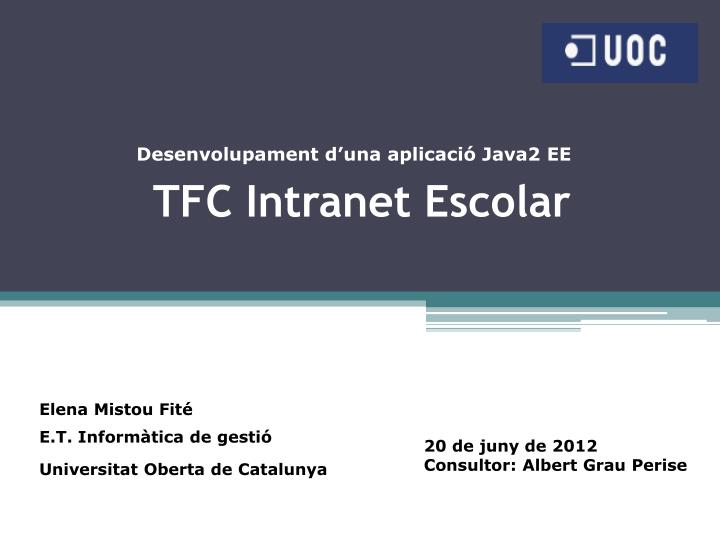Tfc intranet escolar