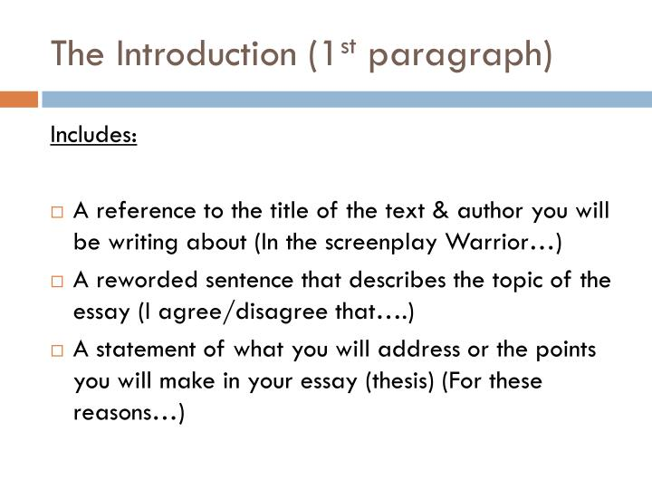 To what extent do you agree or disagree essay structure