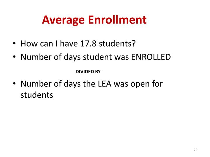 Average Enrollment