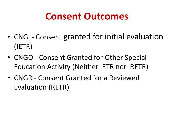 Consent Outcomes