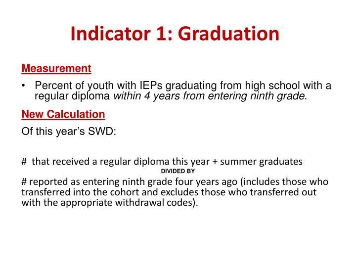 Indicator 1: Graduation