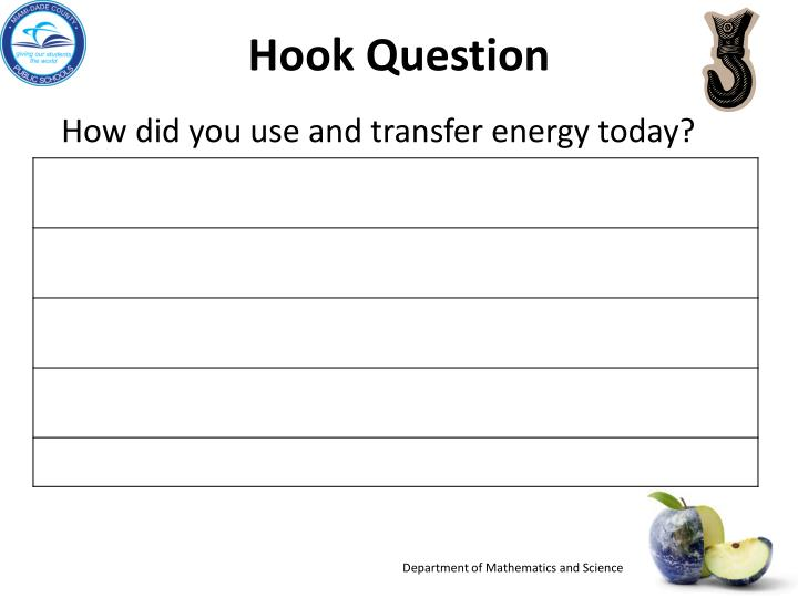 Hook question