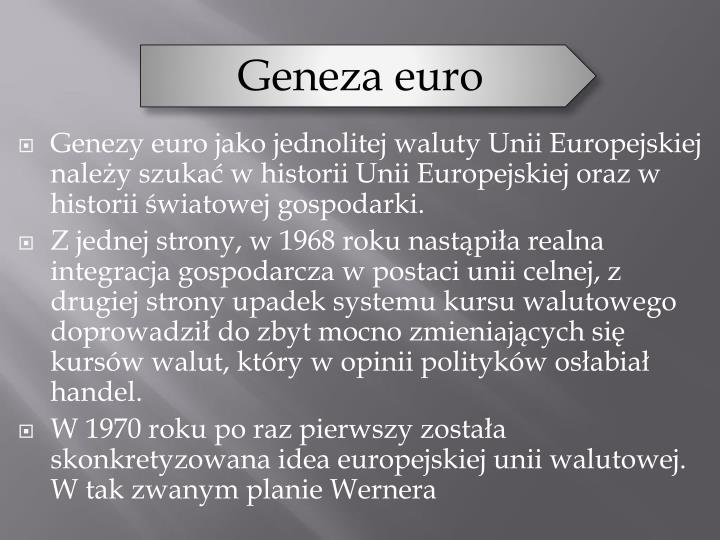 Geneza euro