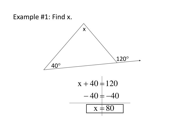 Example #1: Find x.