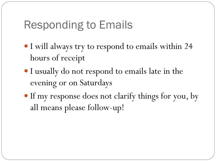 Responding to Emails