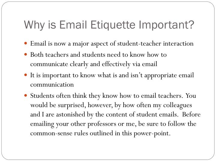 Why is Email Etiquette Important?