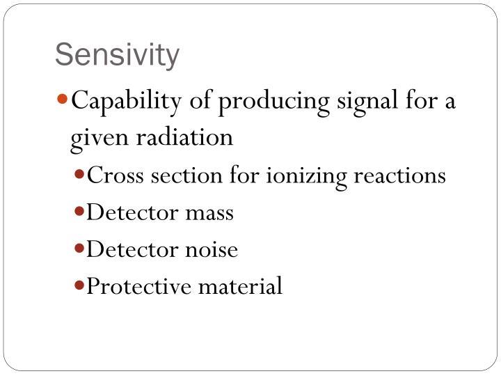 Sensivity