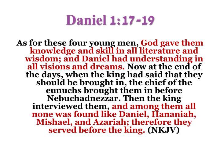 Daniel 1:17-19