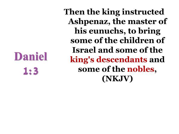Daniel 1:3