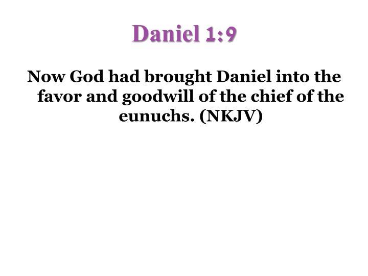 Daniel 1:9