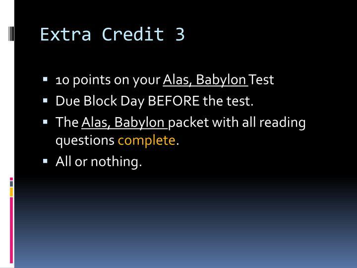 Extra Credit 3