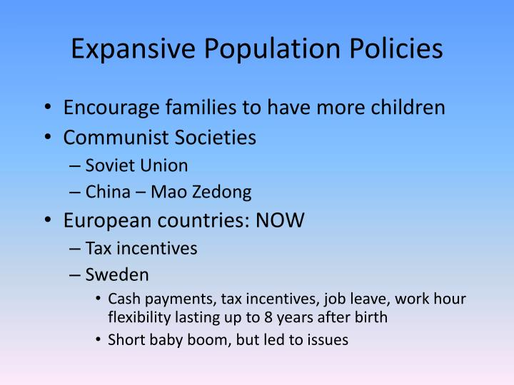 Expansive Population Policies