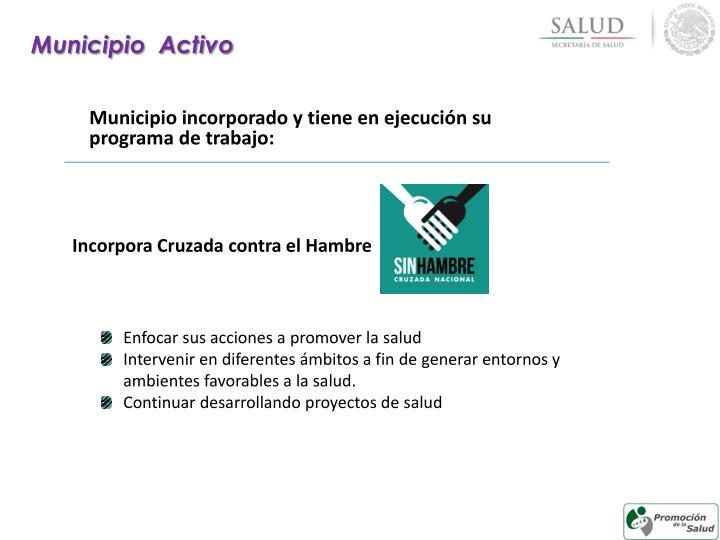 Municipio  Activo