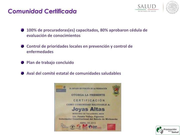 Comunidad Certificada