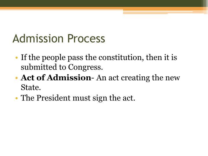 Admission Process