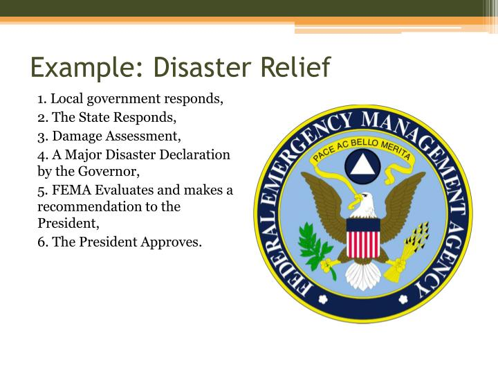 Example: Disaster Relief