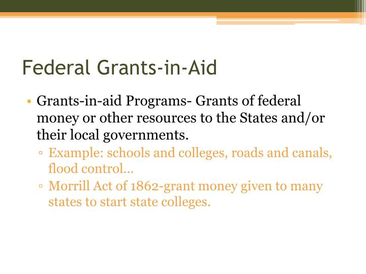 Federal Grants-in-Aid