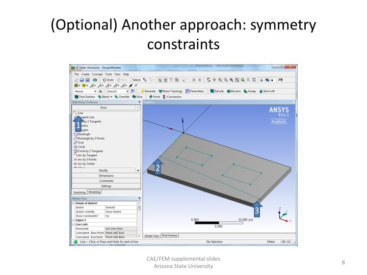 (Optional) Another approach: symmetry constraints