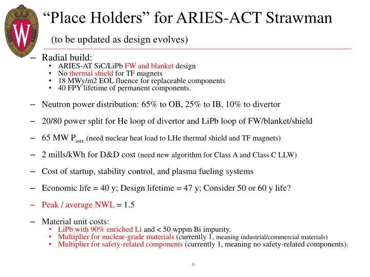 """Place Holders"" for ARIES-ACT"