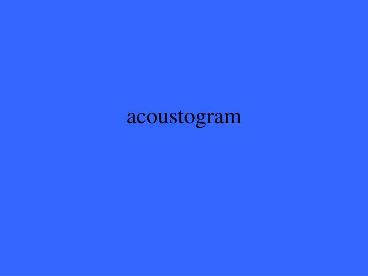 acoustogram