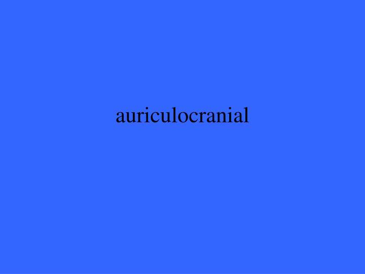auriculocranial