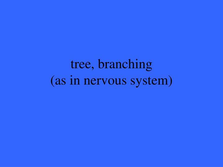 tree, branching