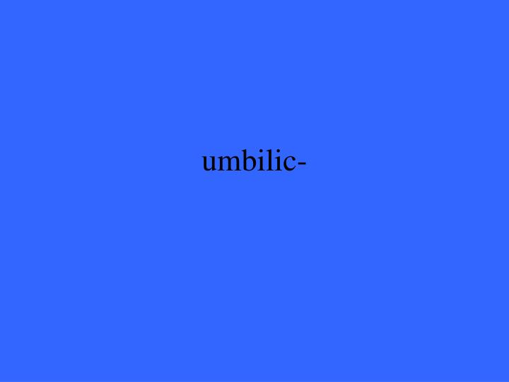umbilic-