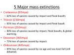 5 major mass extinctions