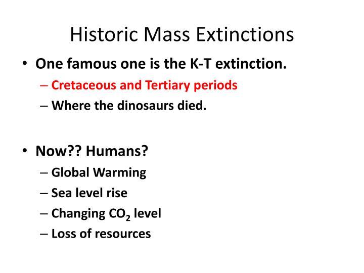 Historic Mass Extinctions