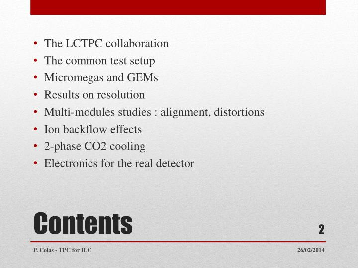 The LCTPC collaboration