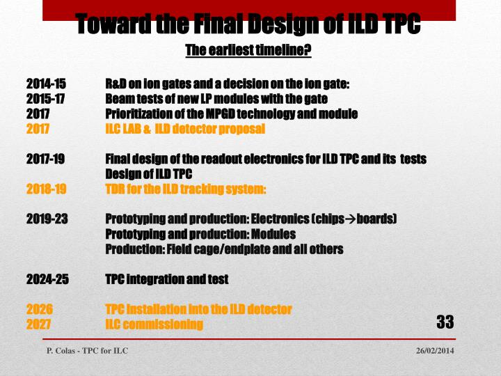 Toward the Final Design of ILD TPC