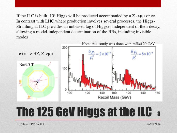 The 125 gev higgs at the ilc