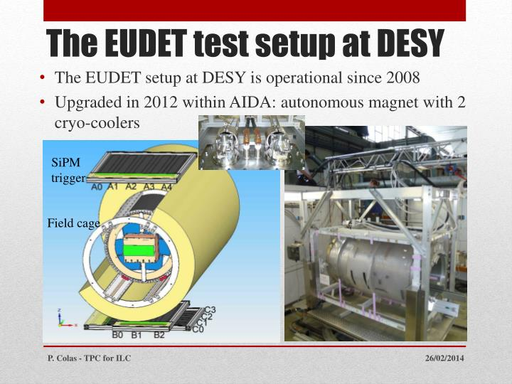 The EUDET setup at DESY