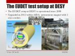the eudet test setup at desy