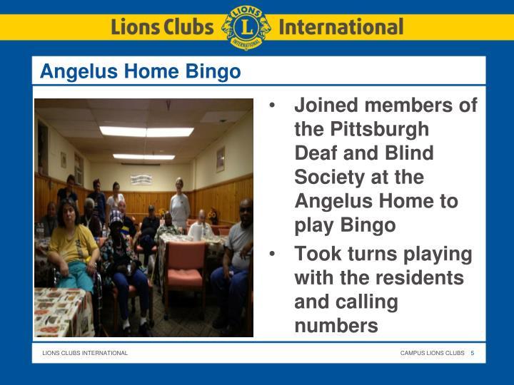 Angelus Home Bingo