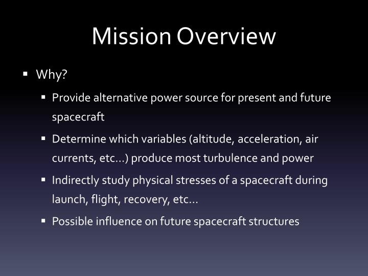 Mission overview1