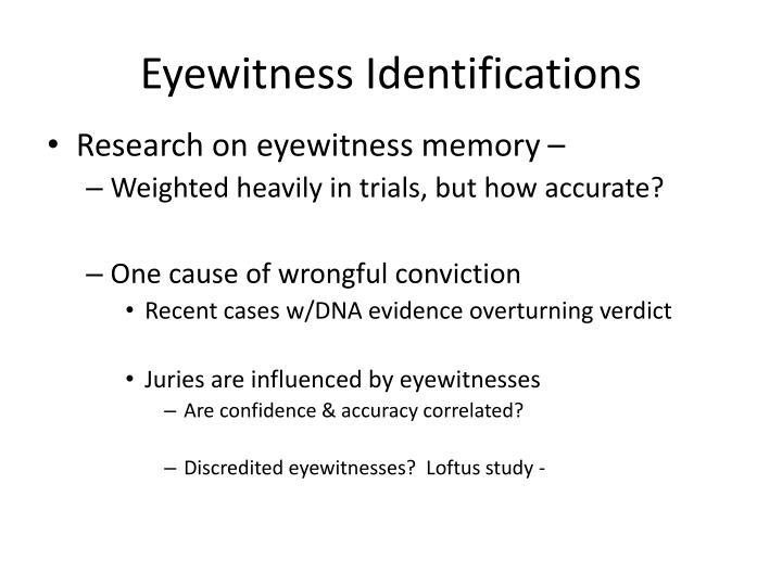 Eyewitness Identifications