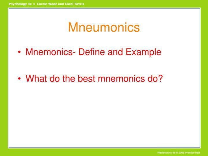 Mneumonics