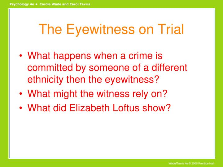 The Eyewitness on