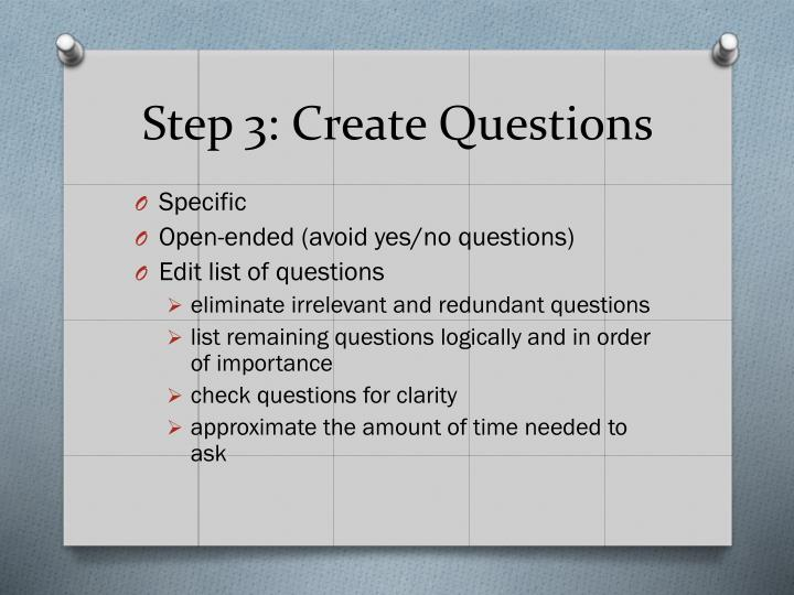 Step 3: Create Questions