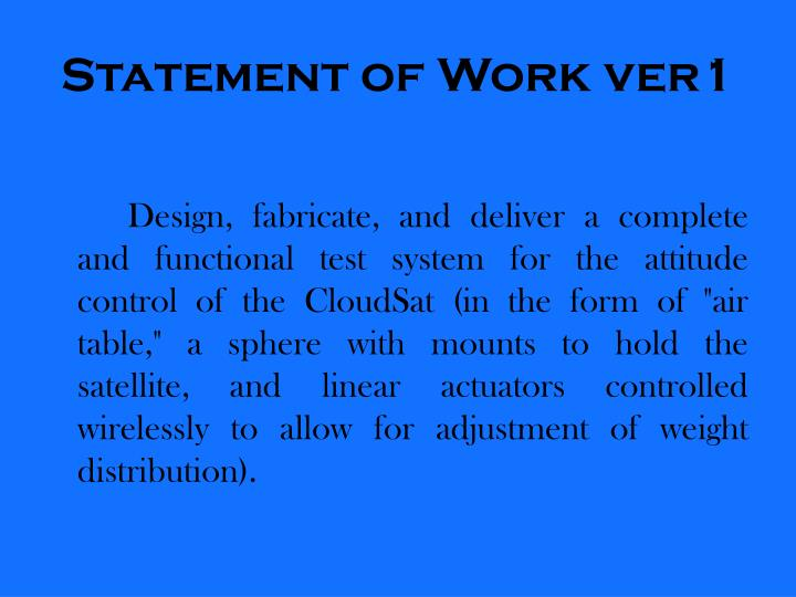 Statement of Work ver1