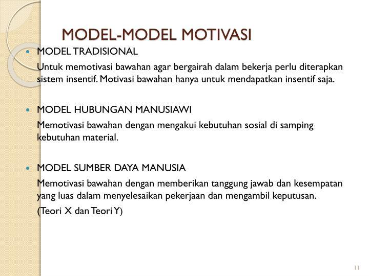 MODEL-MODEL MOTIVASI
